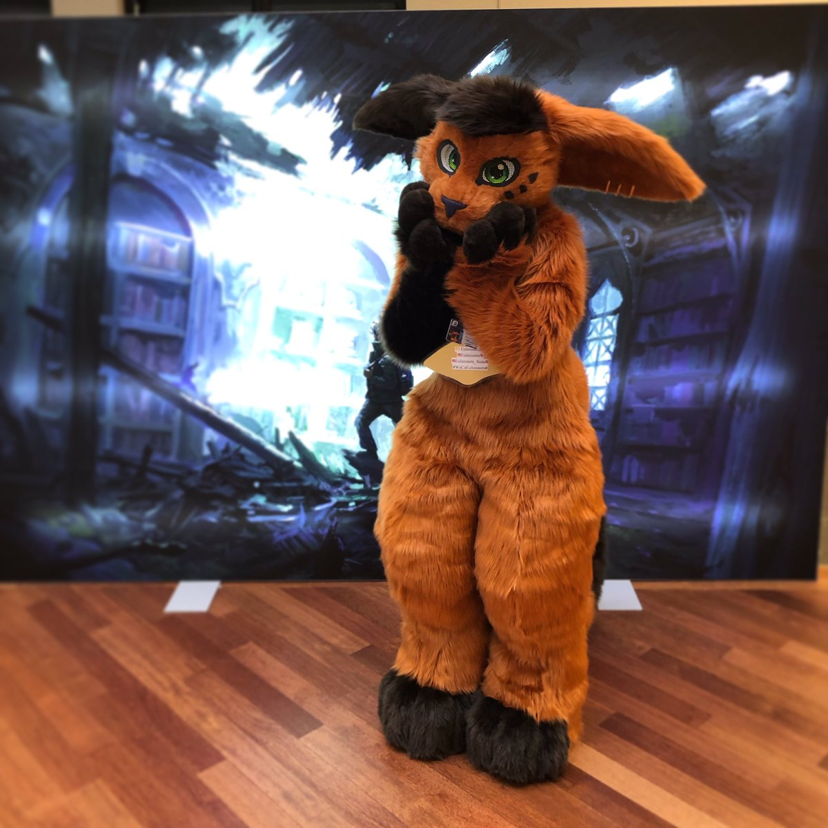 We might be stuck in time    @leok_64   @SoniEule   #Eurofurence25 #eurofurence #ef25 #fursuit #fursuiting #fursuitmaker #catfursuit #furry #furryconvention #fursuiter #fursona #oc #cosplay #sewing #Caturday #animal #Anthro<br>http://pic.twitter.com/JExLDtuTVr