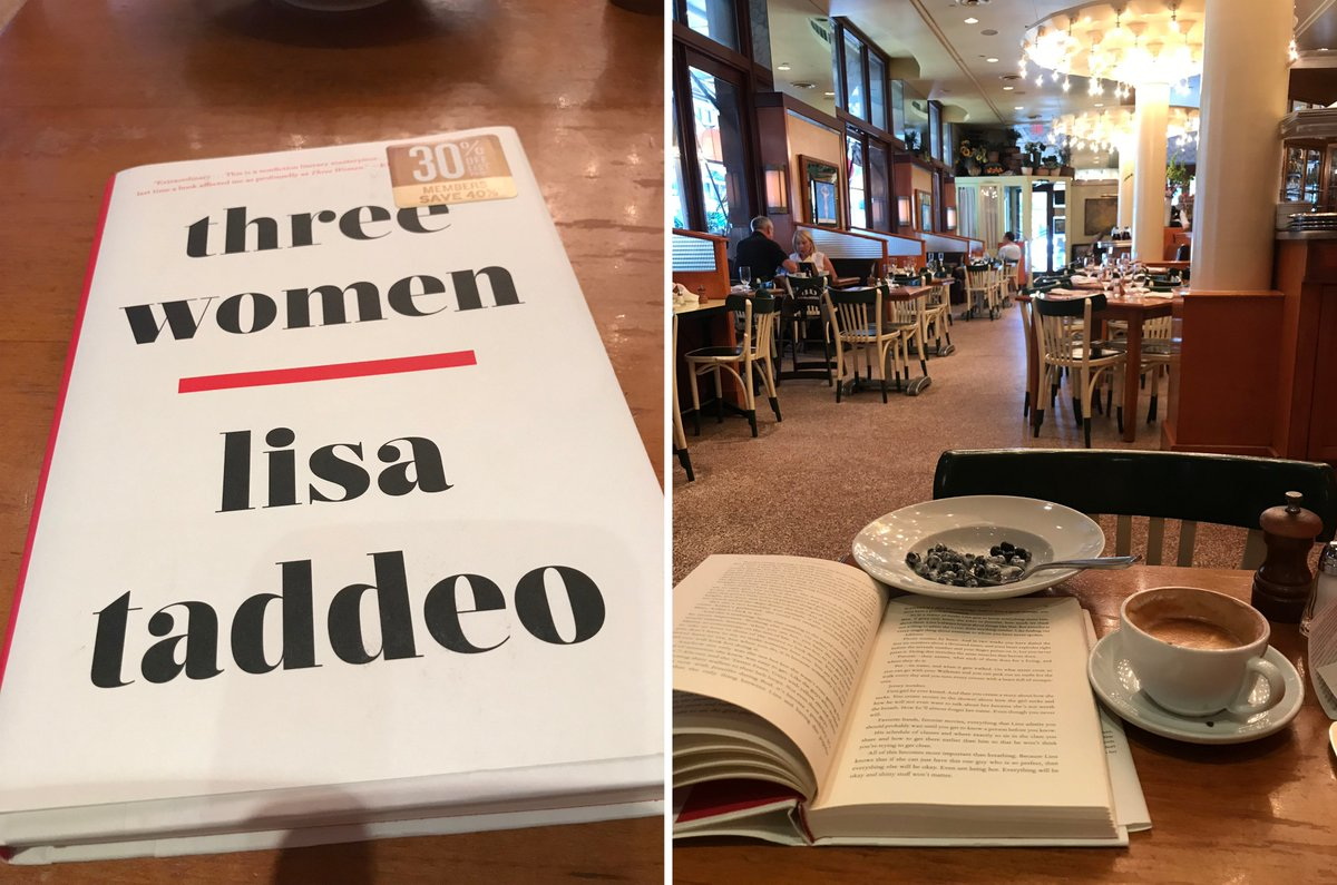 I meant to get work done, really I did, but this new book, Three Women, by @lisadtaddeo (https://amzn.to/307lbaI ), was just too good. .....I receive modest Amazon affiliate commissions for my book recommendations; but I only recommend books I believe in!