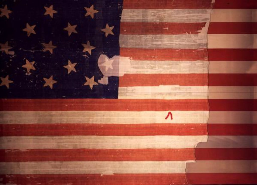 Star-Spangled Banner that flew over Fort McHenry through battle and victory 205 years ago today.     #NMAH