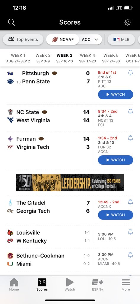 The ACC Is Getting Crushed For Its Performance So Far This Season
