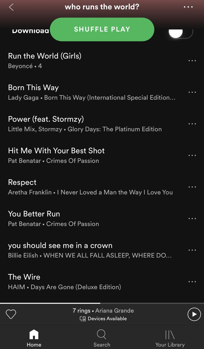 This absolute belter of a playlist:
