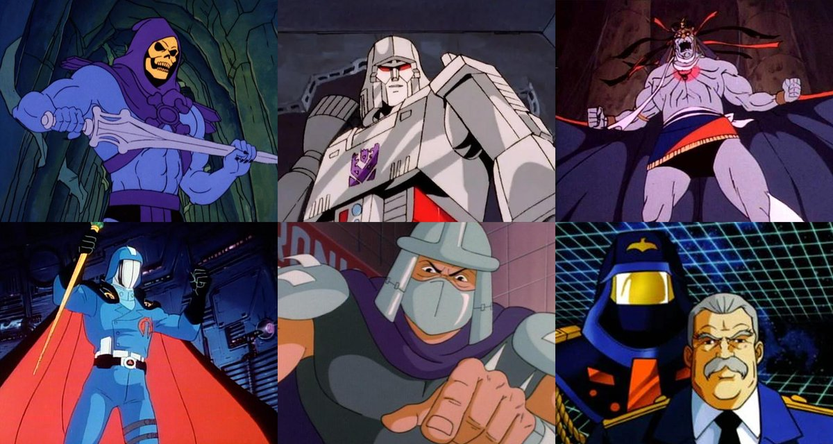 Today's #80s Debate.   Most sinister #Cartoon Villain?   Skeletor, Megatron, Mumm-Ra, Cobra Commander, The Shredder or Miles Mayhem.<br>http://pic.twitter.com/vCVoMHMe2S