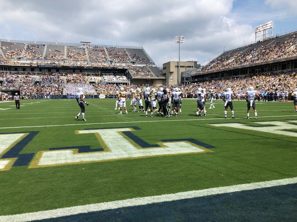 Great day for football #gatech #citadel