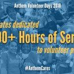 Image for the Tweet beginning: During Anthem Volunteer Days 2018,
