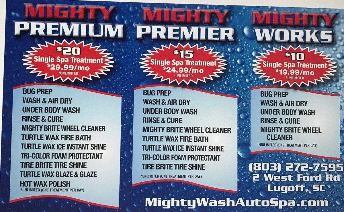 Join the Club !  #mightywashautospa #mightymax #bestcarwashintown #lugoffcarwash #kershawcountysmallbusiness