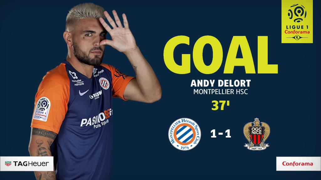 GOAL! @AndyDelort9 with the equalizer for @MontpellierHSC!   #MHSCOGCN 1-1 <br>http://pic.twitter.com/FGVVTJuJoj