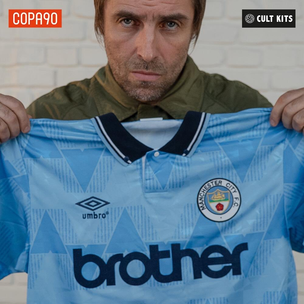 Liam's Football Life @Copa90 x @cultkits - @liamgallagher @mancity 1991/93 From @umbro #ManCity #NORMCI
