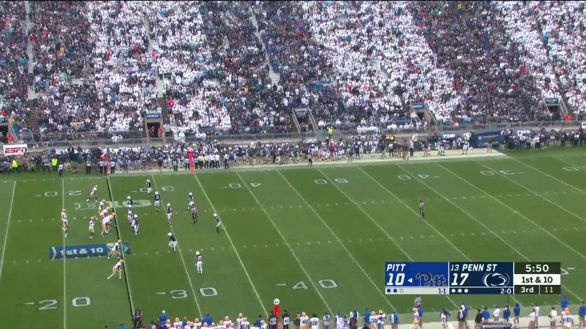 THE BURST FROM @therealnoahcain That's an 88-yard TD drive for @PennStateFball.