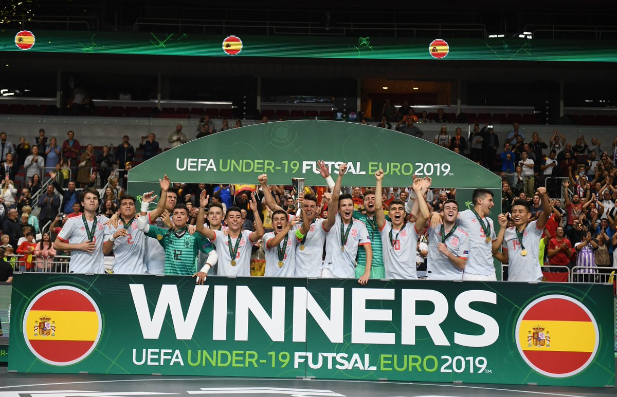 Your first-ever #U19Futsal EURO champions - @SeFutbol🇪🇸 🏆🙌🙌🙌🙌🙌🙌🙌