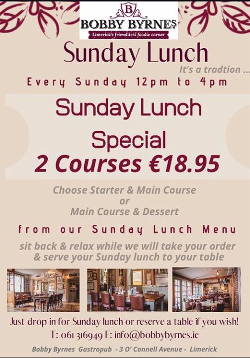 Sunday Lunch | 4 Star Limerick Hotels | The Limerick Strand