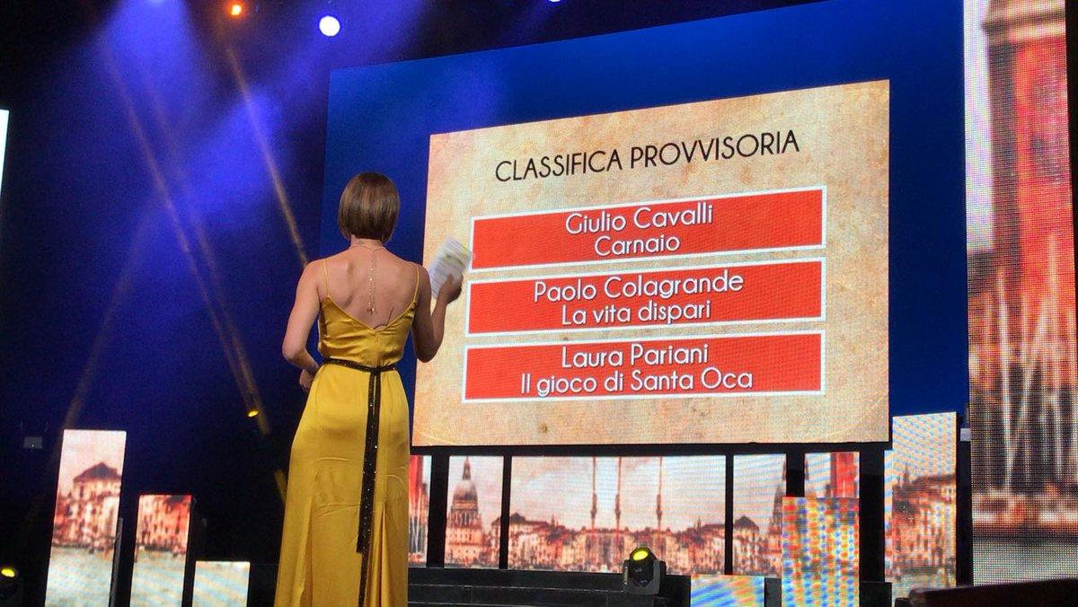 RT @PremioCampiello: Prima proiezione di classific...