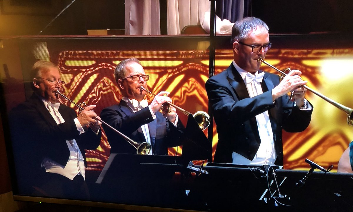Let that be a lesson - that's what happens when you wash your trumpet on the wrong setting #LastNightOfTheProms<br>http://pic.twitter.com/CswNGpLBQA