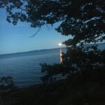 Image for the Tweet beginning: This moonrise in Maine was