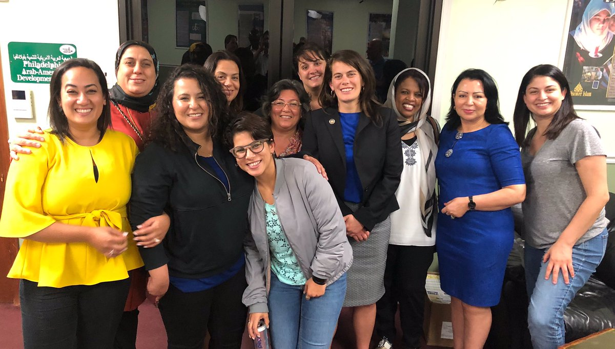 I shared dinner tonight with elected officials from Tunisia, including this group of women!