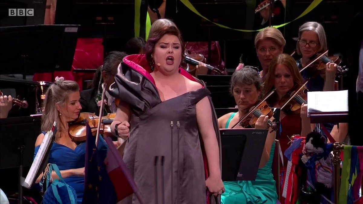 Here's the big moment when @jbartonmezzo entered into the flag-waving spirit of the Last Night of the Proms! #LNOP