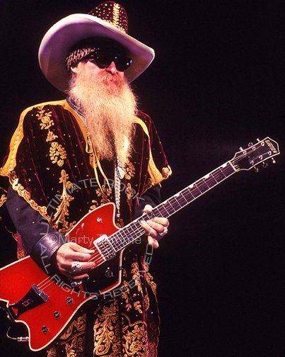 """Photo of guitar legend Bily Gibbons of ZZ Top in concert by Marty Temme.  ZZ Top is on tour and the documentary """"That Little Ol' Band From Texas"""" is coming to a theater near you!  #zztop #billygibbons #southernrock #blues #guitarlegend #classicrock #70smusic #UltimateRockPix<br>http://pic.twitter.com/v8bSQ0pgiQ"""