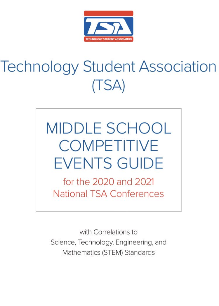 Tsa Competitive Events Guide 2020 Middle School.Tsanow Hashtag On Twitter