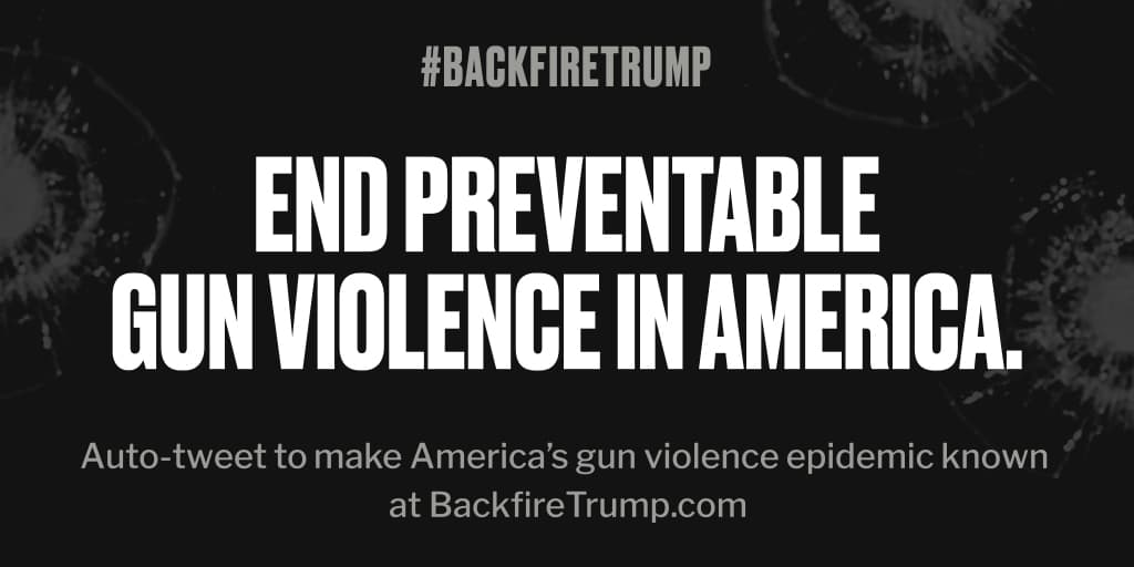 One more person was just killed in #Virginia. #POTUS, it's your job to take action. #BackfireTrump