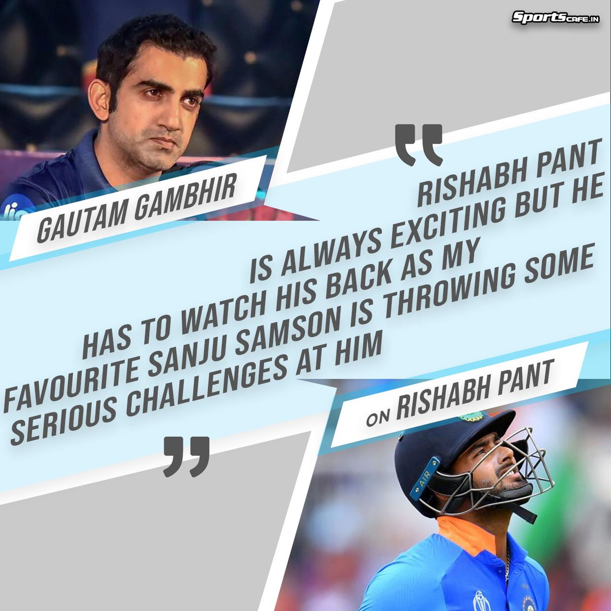 Gautam Gambhir indirectly criticizes Rishabh Pant by backing Sanju Samson on his side!!🧐🧐Check out the full story: http://bit.ly/2lUxnsy #WIvIND #INDvWI #TeamIndia #MSDhoni #rishabhpant