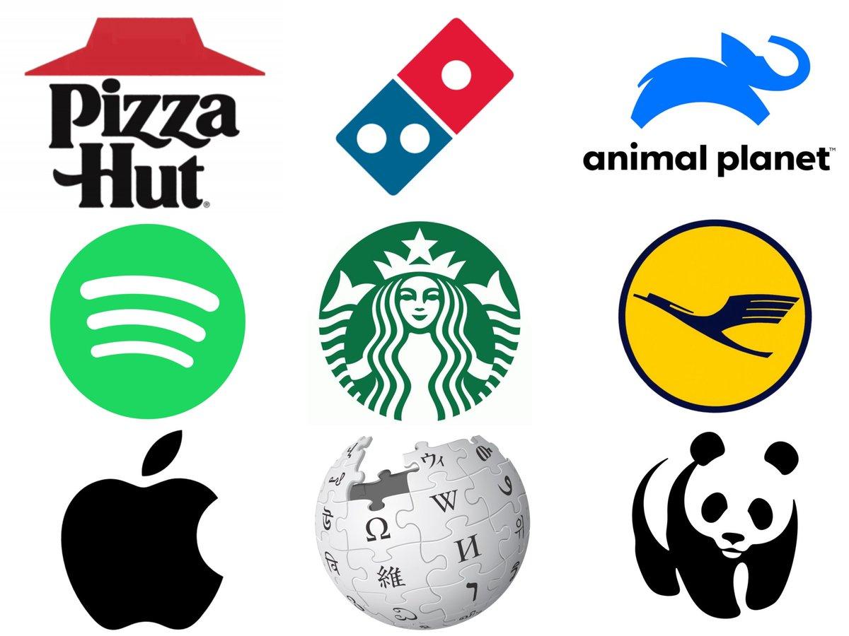 Logo Geek On Twitter New Research Suggests Many Minimalist Logos Aren T Effective Because They Don T Indicate What The Company Does Descriptive Logos Are Easier To Identify With Https T Co Mh6xcwwn2a Https T Co Euyv2weclk