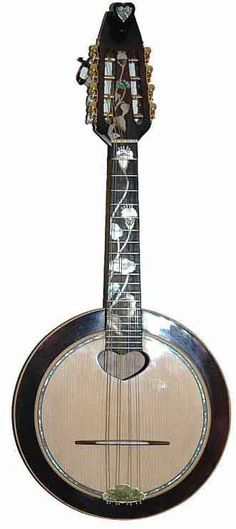 8 string Banjo cavaquinho with wooden head