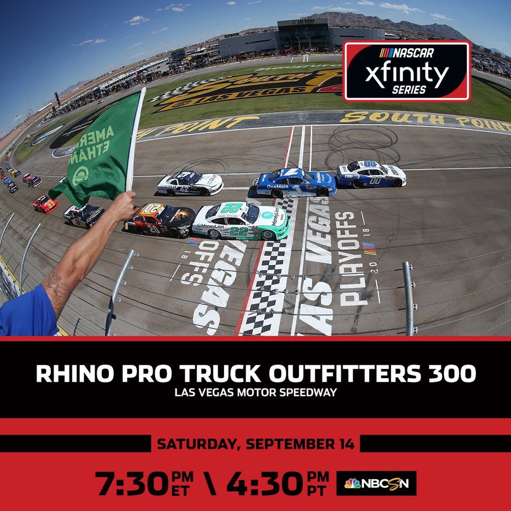 The final race of the regular season for the @NASCAR_Xfinity Series takes on the #RhinoPro300 on @NBCSN.