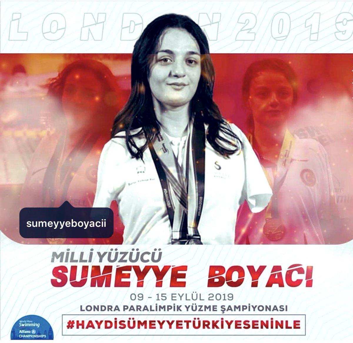Dünya Paralimpik Yüzme Şampiyonası'nda gümüş madalya kazanan gururumuz #SümeyyeBoyacı'yı gönülden tebrik ediyoruz....