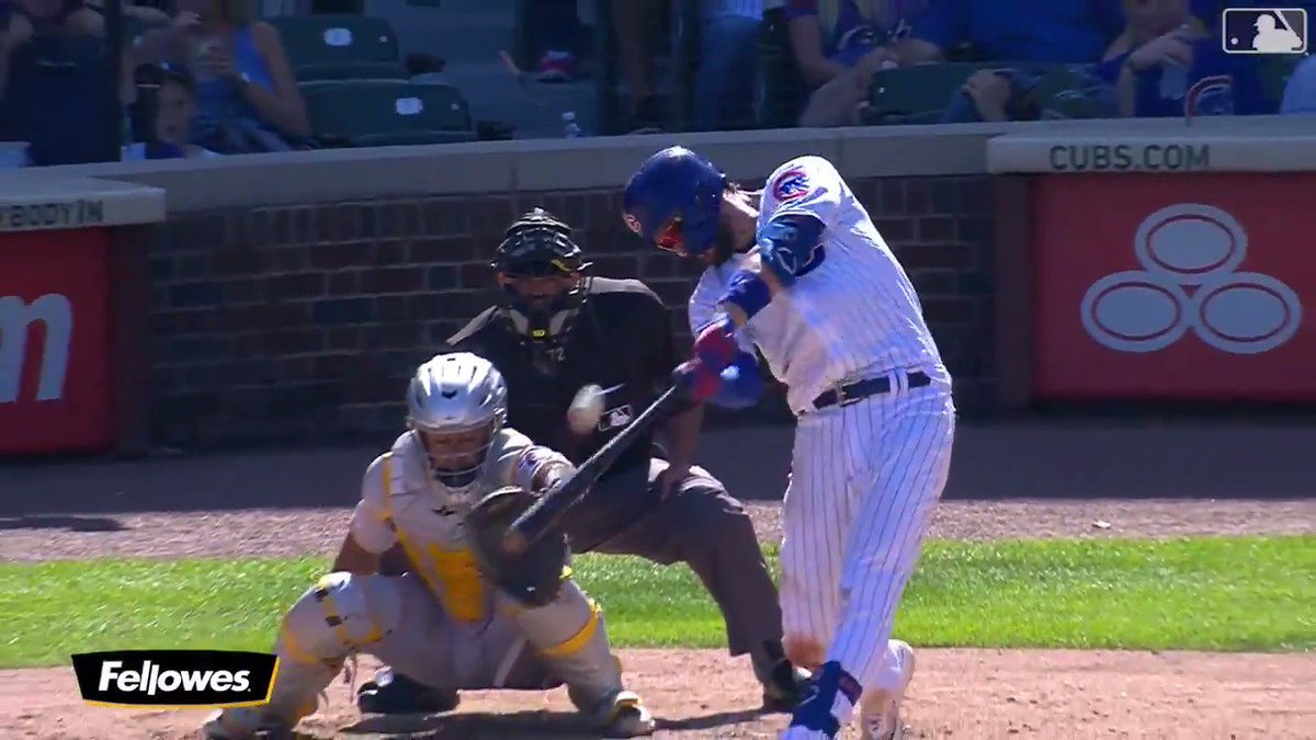 Kris Bryant ties Ernie Banks for the most homers by a Cub in his first five MLB seasons (136).  #EverybodyIn @FellowesBrands
