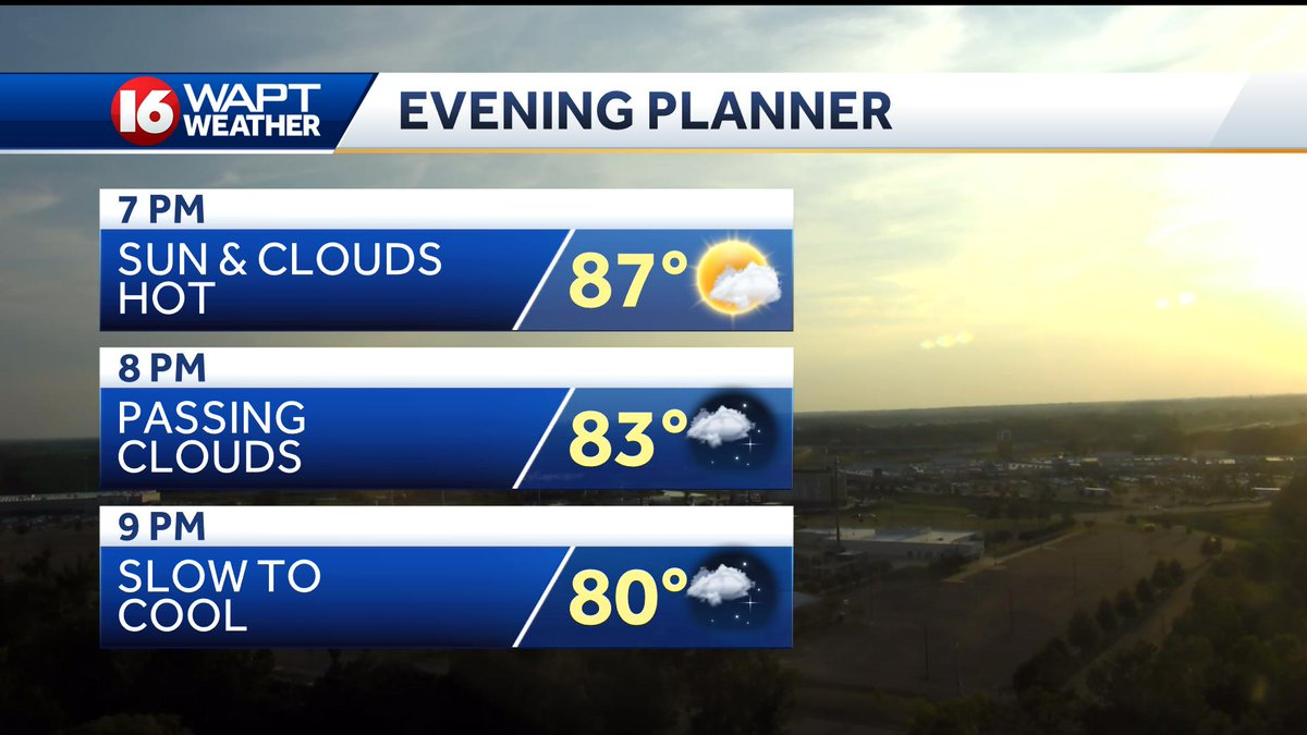 It's a nice evening to be outside, just warm. It will take awhile to cool off with lows tonight near 72°. #mswx
