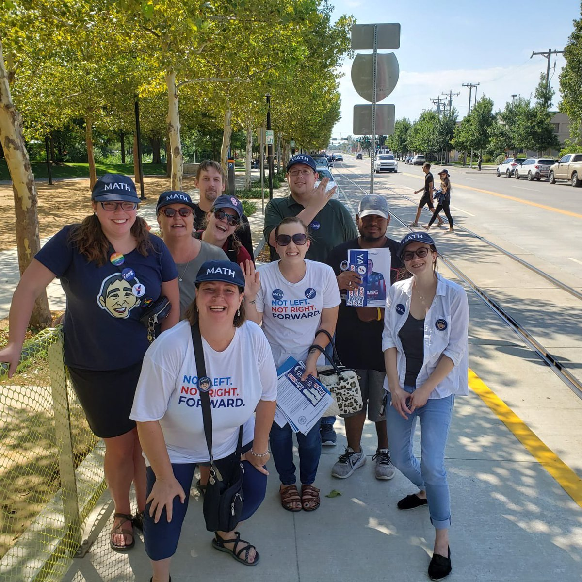 Hey @AndrewYang, the OKC #YangGang did some canvassing today downtown! Thank you for putting #HumanityFirst, let's move this country #FORWARD!!