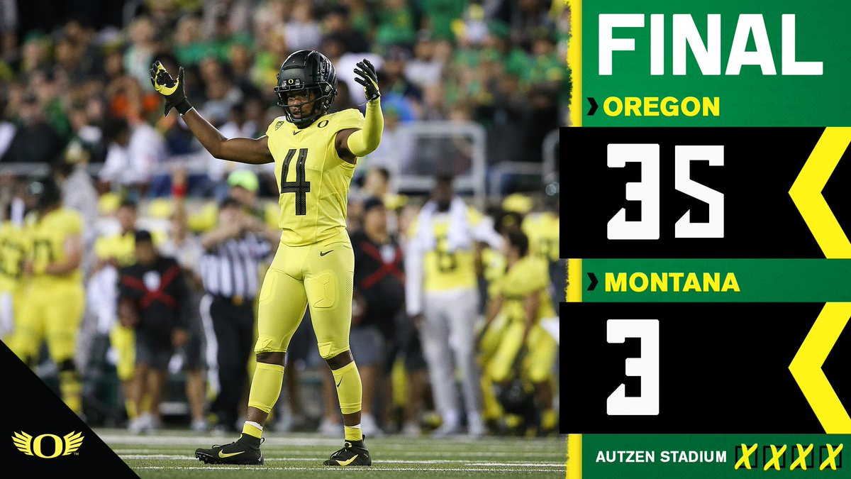 The Ducks keep Montana out of the end zone in a 35-3 victory!   Up next -  #GoDucks <br>http://pic.twitter.com/heAlfRP4z2