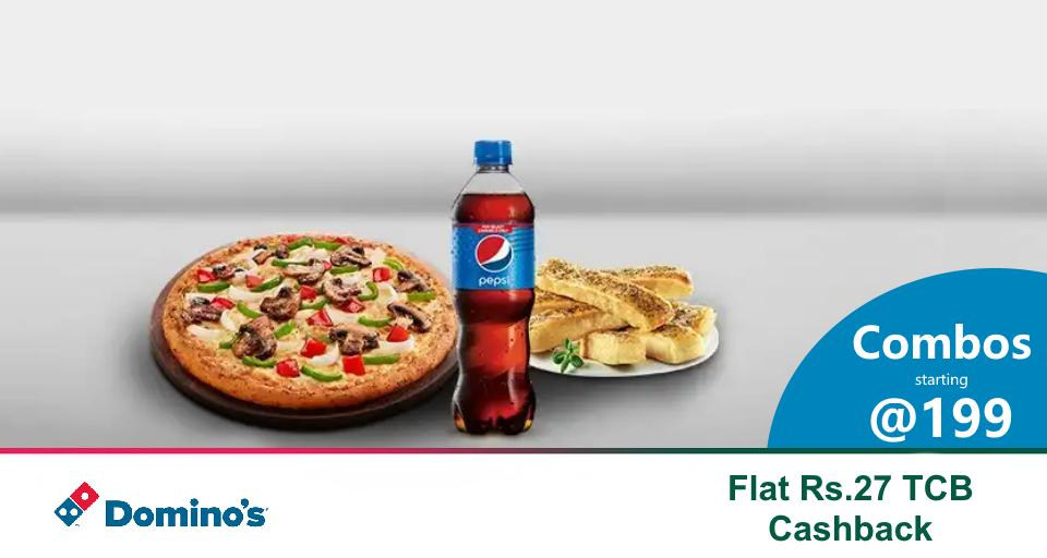 Cheese-filled mania @dominos_india!Classic Veg & Non-Veg Pizza combos starting at just Rs.199.Get additional Flat Rs.27 TCB #Cashback.https://www.topcashback.in/dominos-pizza/#ThodaAurZyaada #pizza #dominos #indianfood #indiancuisine #foodtalkindia #delhifood #delhifoodie #desifood