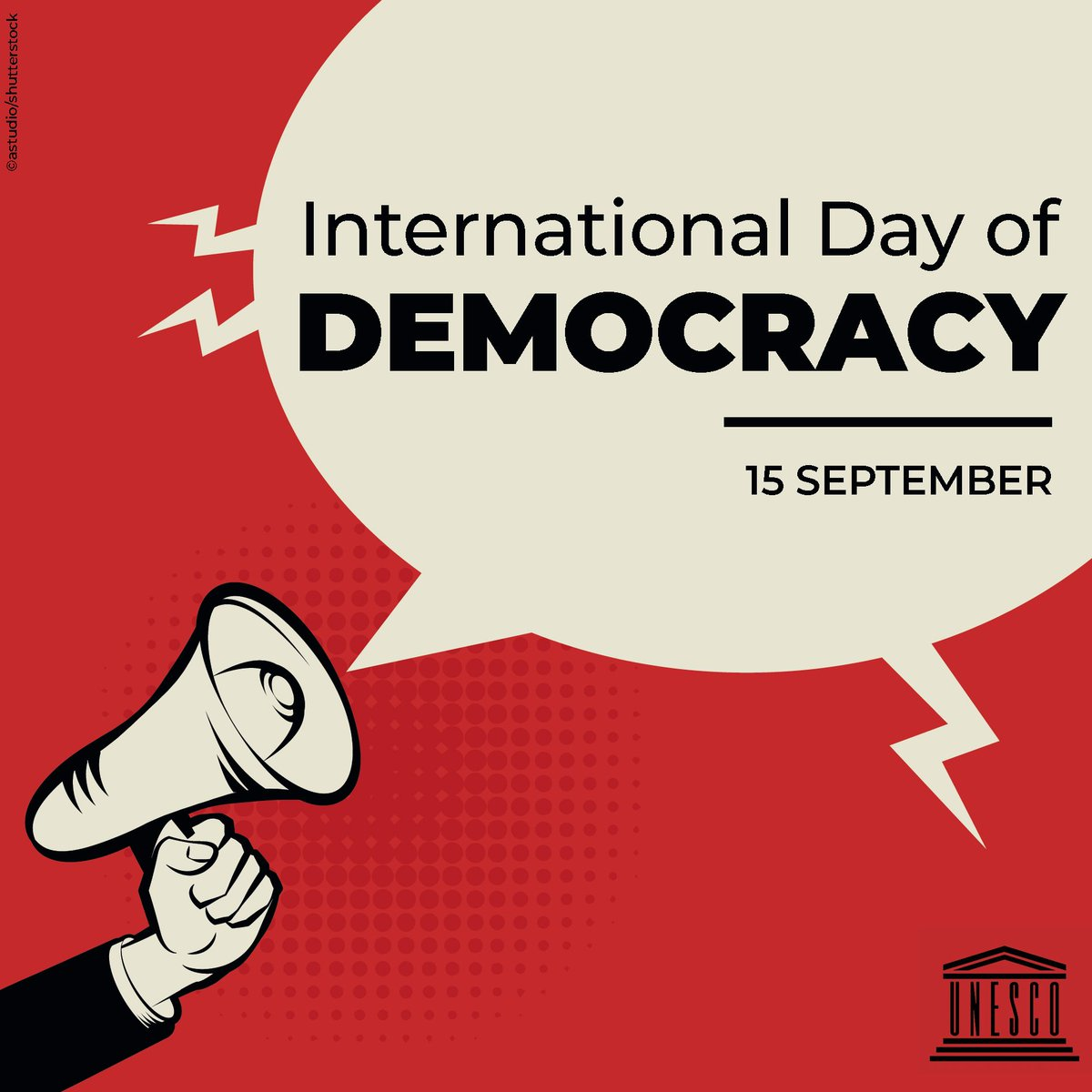 Your voice matters.  Her voice matters.  His voice matters.  Our voice matters.  Their voices matter.  In democracy, every voice matters, every opinion counts.  Join us today in celebrating #DemocracyDay!    https:// on.unesco.org/2MreuVW     <br>http://pic.twitter.com/LrP73BCbRr