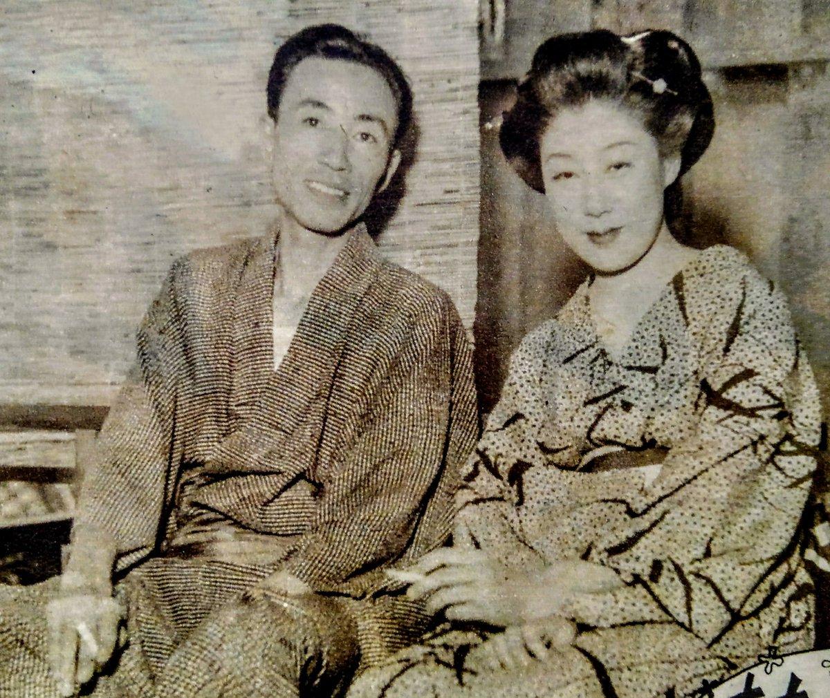"""島倉千代菊 on Twitter: """"加藤嘉さん・山田五十鈴さんご夫妻 /昭和25 ..."""