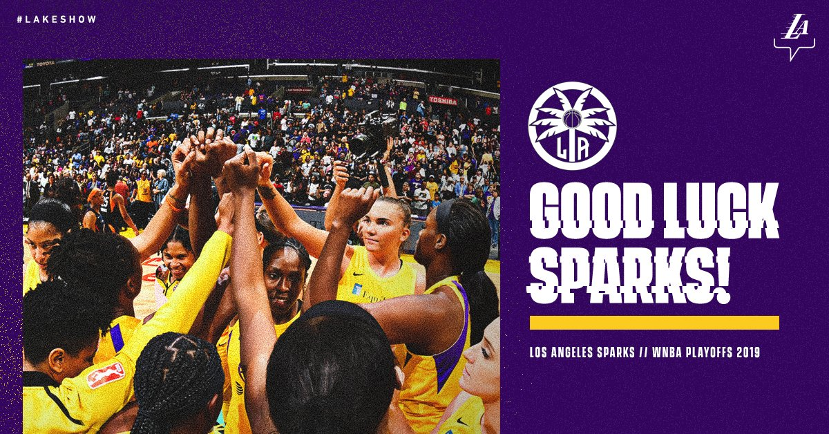 Do it for LA 💜💛 @LA_Sparks   #LakeShow /// #LeadTheCharge