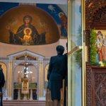 Image for the Tweet beginning: Archbishop @Elpidophoros celebrated the Divine