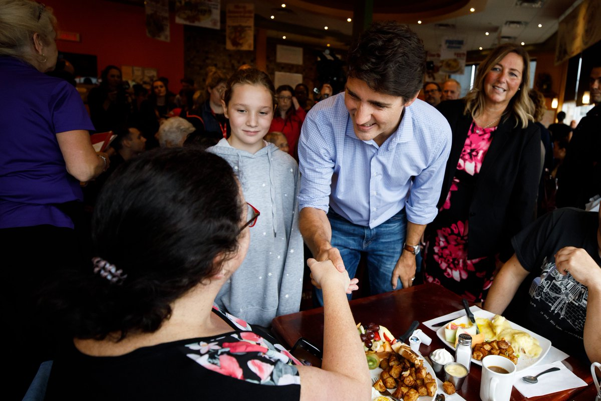 Busy day on the road today with Ella-Grace! Our first stop: Fruit Oeuf-olie in Montcalm for breakfast with our incredible candidate, Isabel Sayegh. Thanks for having us! <br>http://pic.twitter.com/iyyhGkfGNR