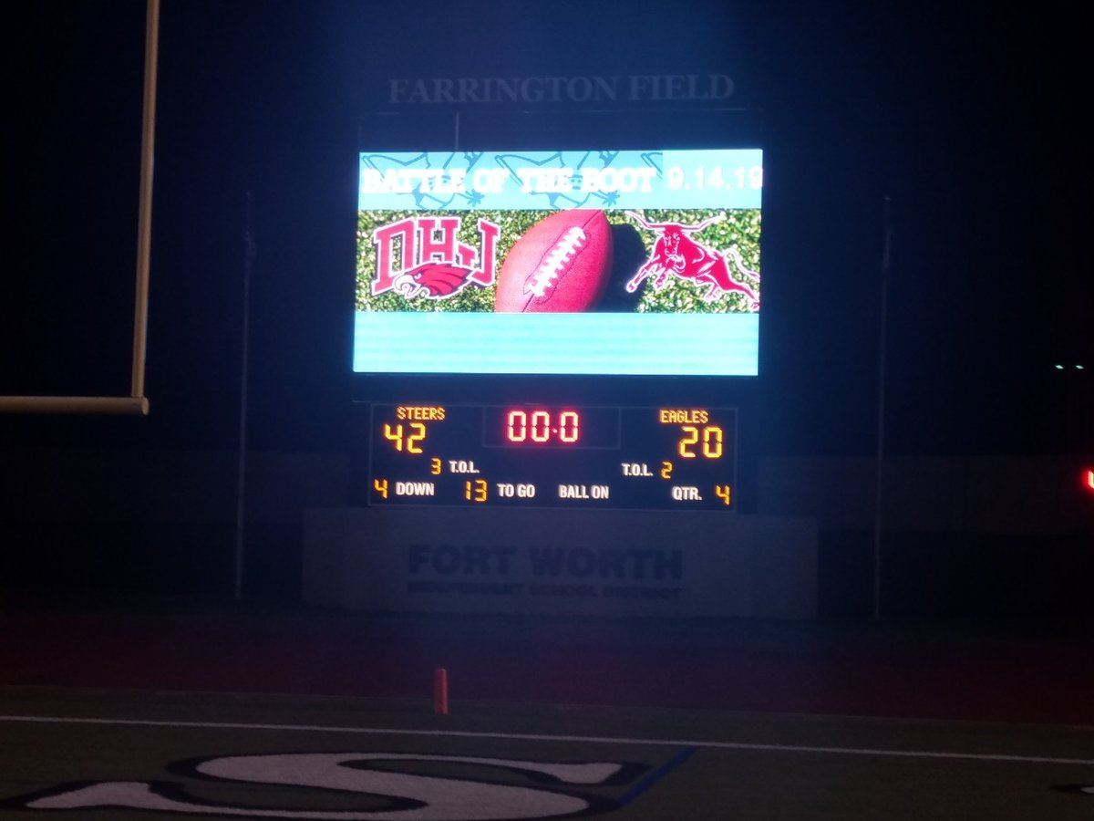 Farrington field Fort Worth and the battle of the boot goes in the books