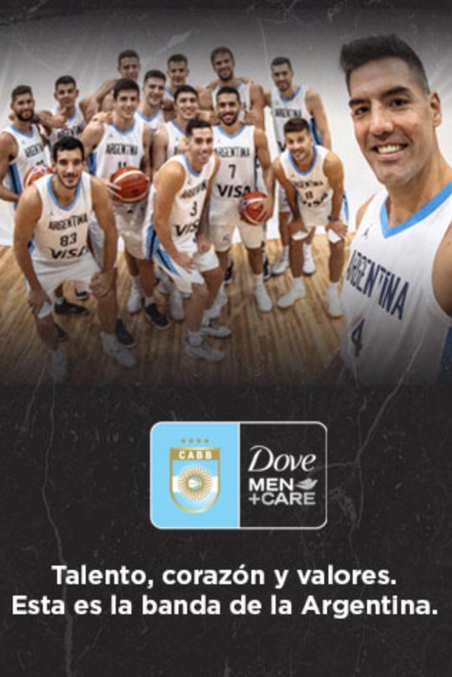 Talento, corazón y valores. Esta es la banda de la Argentina. ¡Llegó el día! ¡Vamos Argentina! #DoveMenCareArgentina #FIBAWC2019 @recontravale5 @JoseMontesano @basquetplus  @MktRegistrado @cabboficial https://t.co/v5b5tP6mOO