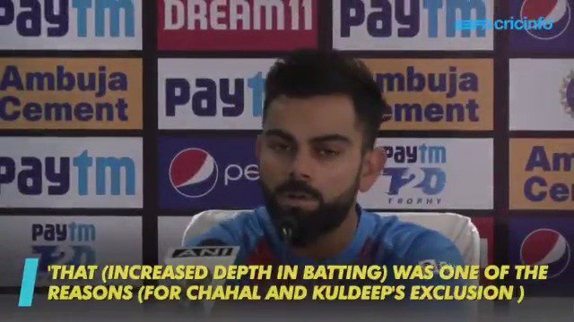 If other teams are batting till No. 9, 10, why cant we? Virat Kohli explains why Kuldeep Yadav and Yuzvendra Chahal are not a part of the India squad #INDvSA