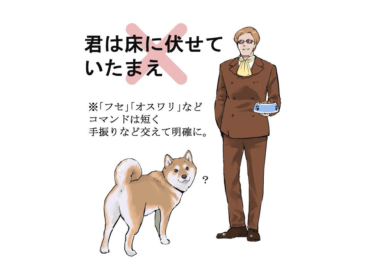 ムスカが犬を飼った結果?犬がすごい困ってる!
