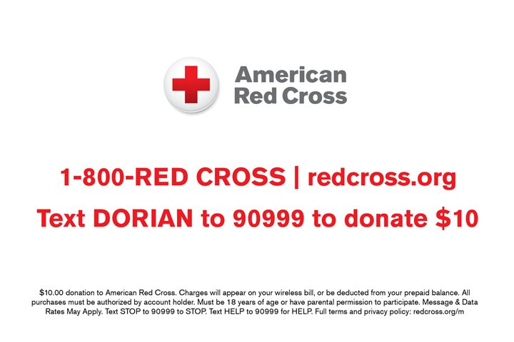 Help people affected by Hurricane Dorian. Text the word DORIAN to 90999 to donate $10 to American Red Cross Hurricane Dorian relief.  MORE:  http:// stele.rs/QbQNbM    <br>http://pic.twitter.com/CLCT9PXywP