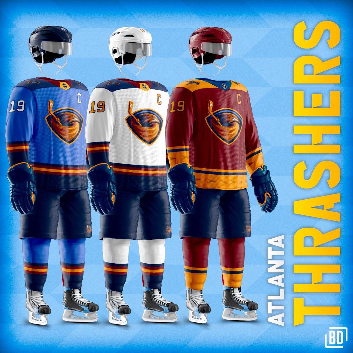 atlanta thrashers jersey history