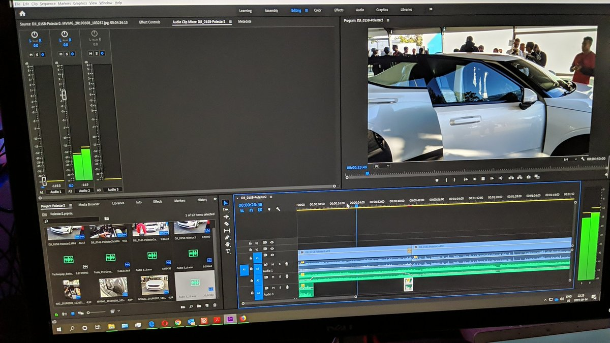 Just finished editing the #Polestar2 @PolestarCars video from #io19, look for the full video next week...