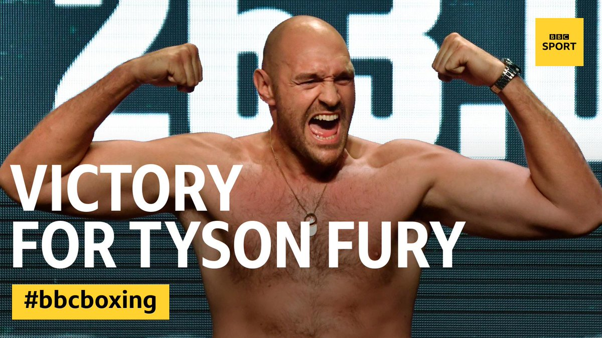 What a fight! Tyson Fury is pushed to the final bell and defeats Otto Wallin on points. Reaction on @5liveSport and @BBCSport 👉 bbc.in/2kAjik5 #bbcboxing #FuryWallin