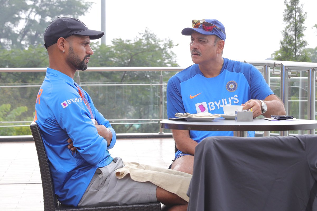 Coffee, Mountains, Cricket and Conversation - with @SDhawan25 🇮🇳#TeamIndia #IndvSA