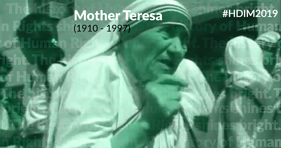 Mother Teresa founded Missionaries of Charity, an organization that was active in 133 countries worldwide & helped provide food, healthcare, & comfort to some of world's poorest & most vulnerable people.  And work of #humanrights defenders continues.  #HDIM2019 starts tomorrow.<br>http://pic.twitter.com/mchCLajDPN