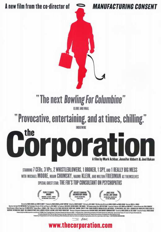 #NowWatching The Corporation. A documentary i've heard some good things about. <br>http://pic.twitter.com/H8VuUIJ5vp