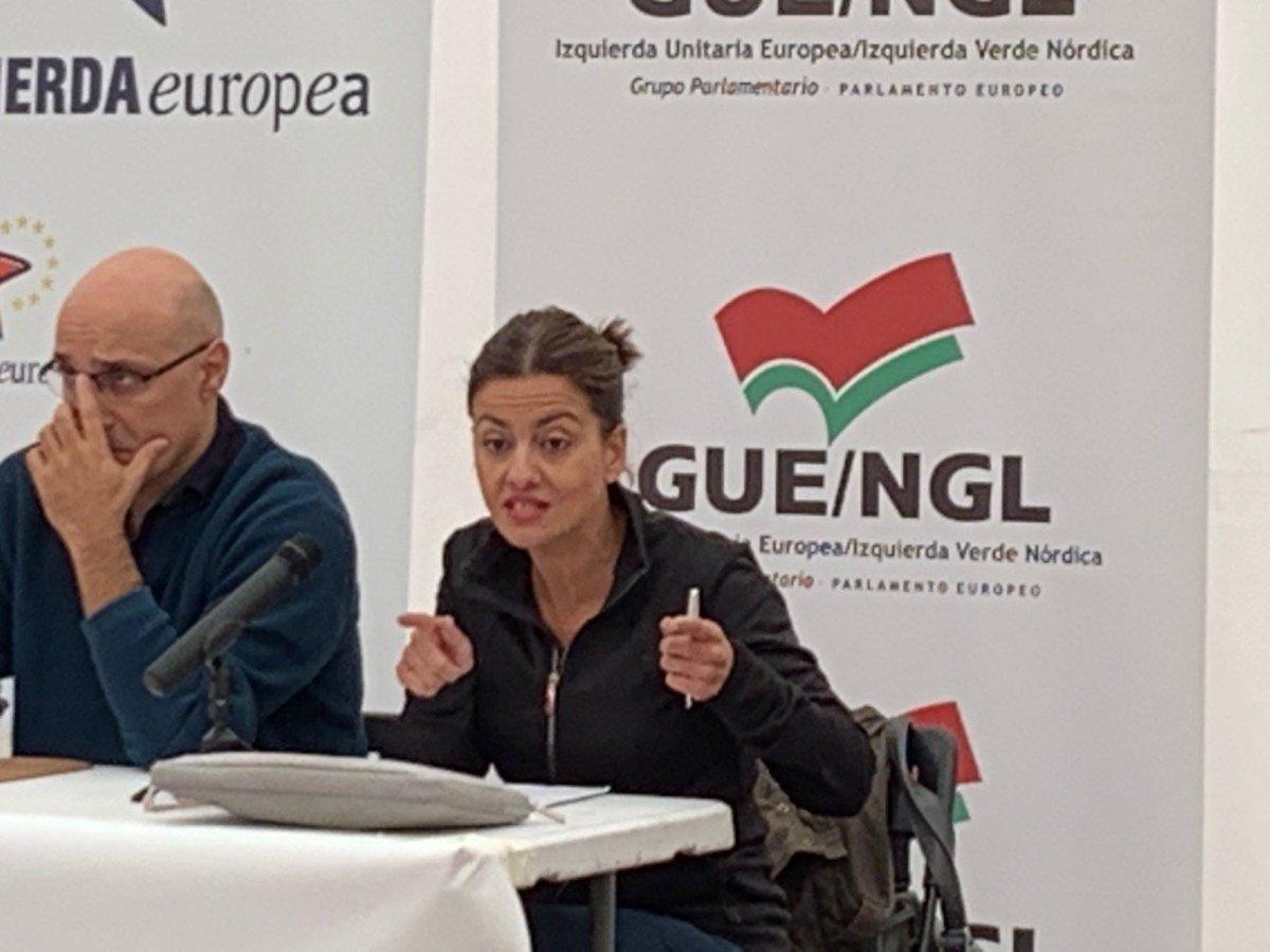 @sirarego @EvaGSempere @santiagolvarez @Marga_Ferre @FuhemEcosocial @fow_berlin 💬 La gran pregunta que nos tenemos que hacer como organización es cuál es el papel que debemos tener ante el reto de la crisis ecosocial 🗣 @sirarego, eurodiputada de IU. #EscuelaInviernoIU201