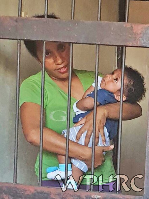 Sister Mandabayan has finally been allowed to feed her hungry baby son from behind bars. Arrested for carrying 1500 small Morning Star flags in #WestPapua last week. She now faces a lifetime sentence for treason.  #FreeSisterMandabayan NOW! Her little boy needs her. #HumanRights <br>http://pic.twitter.com/r9GwucaCLB
